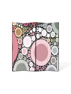 Paravan de Camera ArtDeco din 4 Panouri Abstract Decorativ Margele 140 x 150 cm