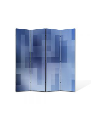 Paravan de Camera ArtDeco din 4 Panouri Abstract Decorativ Carouri 140 x 150 cm