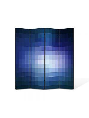 Paravan de Camera ArtDeco din 4 Panouri Abstract Decorativ Lumina pixelata 140 x 150 cm