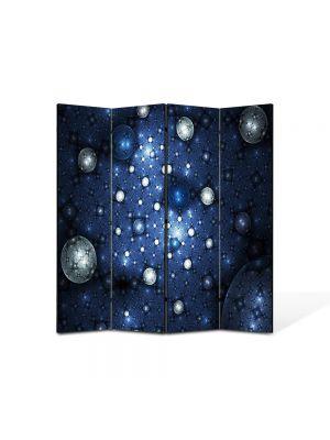 Paravan de Camera ArtDeco din 4 Panouri Abstract Decorativ Constelatii 140 x 150 cm
