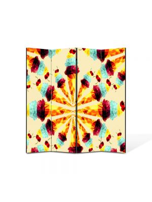 Paravan de Camera ArtDeco din 4 Panouri Abstract Decorativ Supraexpus 140 x 150 cm