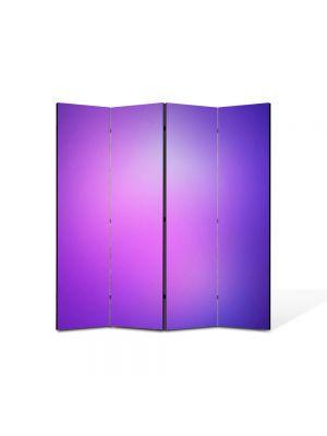 Paravan de Camera ArtDeco din 4 Panouri Abstract Decorativ Mov 140 x 150 cm
