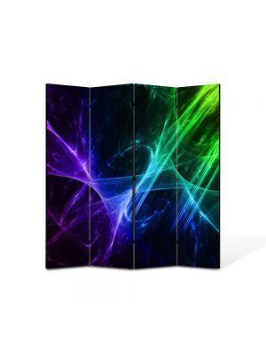 Paravan de Camera ArtDeco din 4 Panouri Abstract Decorativ Energii pozitive 140 x 150 cm