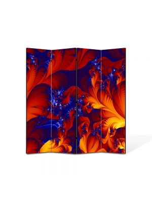Paravan de Camera ArtDeco din 4 Panouri Abstract Decorativ Petale 140 x 150 cm