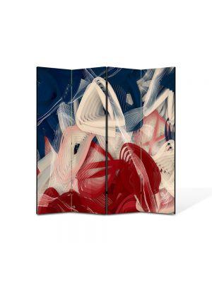 Paravan de Camera ArtDeco din 4 Panouri Abstract Decorativ Artist 140 x 150 cm