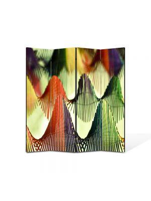 Paravan de Camera ArtDeco din 4 Panouri Abstract Decorativ Corzi 140 x 150 cm