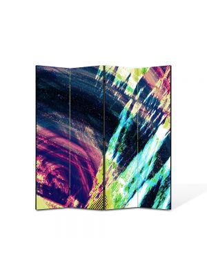 Paravan de Camera ArtDeco din 4 Panouri Abstract Decorativ Saturat 140 x 150 cm