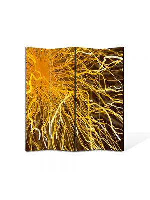 Paravan de Camera ArtDeco din 4 Panouri Abstract Decorativ Tesla 140 x 150 cm