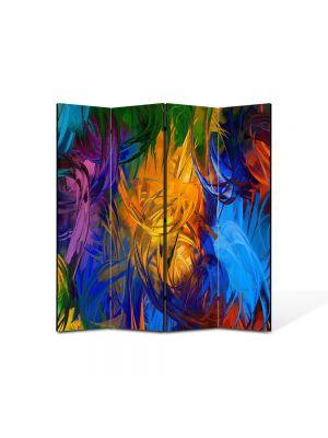 Paravan de Camera ArtDeco din 4 Panouri Abstract Decorativ Fulgi 140 x 150 cm