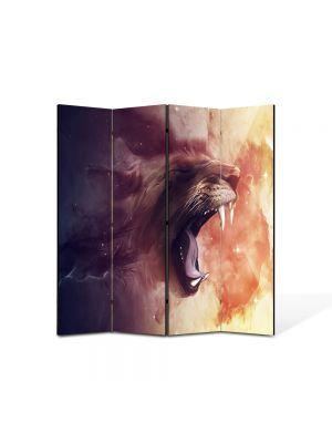 Paravan de Camera ArtDeco din 4 Panouri Abstract Decorativ Furie 140 x 150 cm