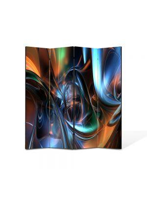 Paravan de Camera ArtDeco din 4 Panouri Abstract Decorativ Arta plastica 140 x 150 cm