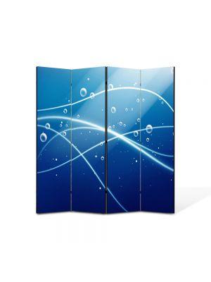 Paravan de Camera ArtDeco din 4 Panouri Abstract Decorativ Oxigen 140 x 150 cm
