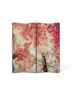 Paravan de Camera ArtDeco din 4 Panouri Abstract Decorativ Toamna 140 x 150 cm