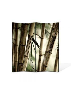 Paravan de Camera ArtDeco din 4 Panouri Abstract Decorativ Bambus 140 x 150 cm