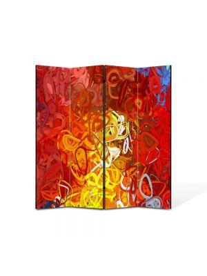 Paravan de Camera ArtDeco din 4 Panouri Abstract Decorativ Ondulat 140 x 150 cm