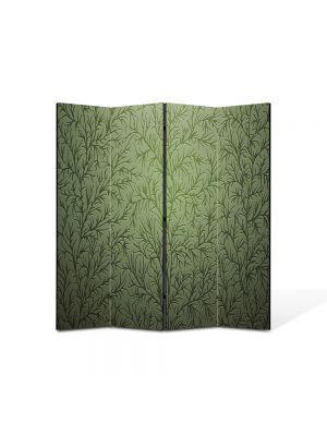 Paravan de Camera ArtDeco din 4 Panouri Abstract Decorativ Tapet cu desene 140 x 150 cm