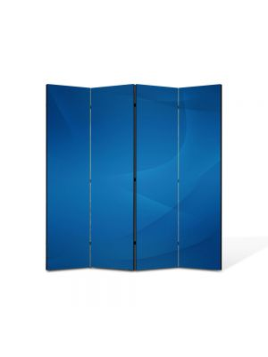 Paravan de Camera ArtDeco din 4 Panouri Abstract Decorativ Nori stersi 140 x 150 cm