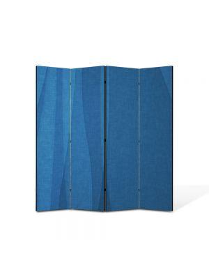 Paravan de Camera ArtDeco din 4 Panouri Abstract Decorativ Unduire de matase 140 x 150 cm