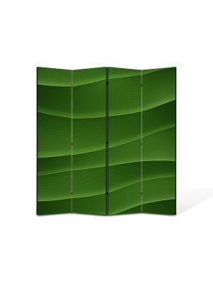 Paravan de Camera ArtDeco din 4 Panouri Abstract Decorativ Dealuri verzi 140 x 150 cm