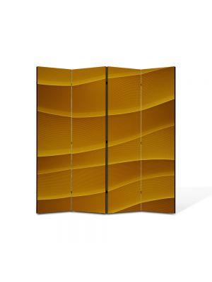 Paravan de Camera ArtDeco din 4 Panouri Abstract Decorativ Dealuri portocalii 140 x 150 cm