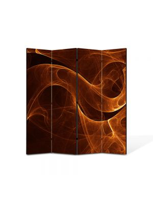 Paravan de Camera ArtDeco din 4 Panouri Abstract Decorativ Sarpe de foc 140 x 150 cm