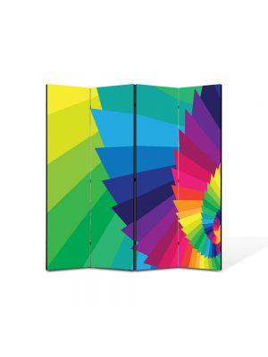Paravan de Camera ArtDeco din 4 Panouri Abstract Decorativ Elicoidal 140 x 150 cm