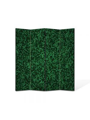 Paravan de Camera ArtDeco din 4 Panouri Abstract Decorativ Mocheta 140 x 150 cm