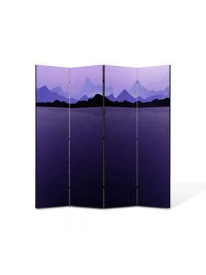 Paravan de Camera ArtDeco din 4 Panouri Abstract Decorativ Ghetari 140 x 150 cm