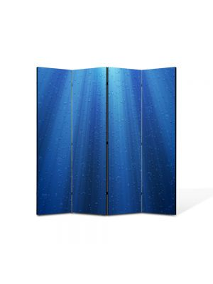 Paravan de Camera ArtDeco din 4 Panouri Abstract Decorativ Raze de lumina sub apa 140 x 150 cm