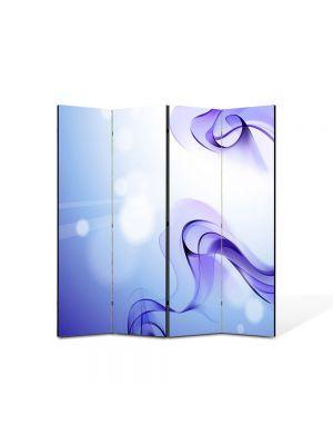 Paravan de Camera ArtDeco din 4 Panouri Abstract Decorativ Fum violet 140 x 150 cm