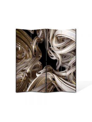 Paravan de Camera ArtDeco din 4 Panouri Abstract Decorativ Curbe 140 x 150 cm