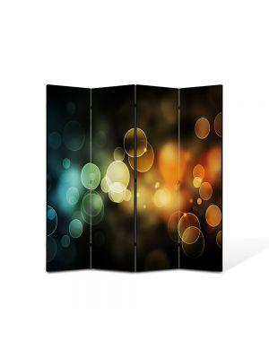 Paravan de Camera ArtDeco din 4 Panouri Abstract Decorativ Lumini 140 x 150 cm