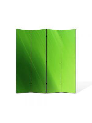 Paravan de Camera ArtDeco din 4 Panouri Abstract Decorativ Verde 140 x 150 cm