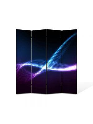 Paravan de Camera ArtDeco din 4 Panouri Abstract Decorativ Energii 140 x 150 cm