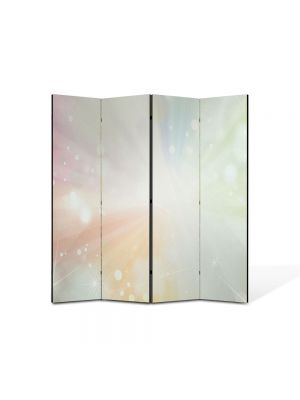 Paravan de Camera ArtDeco din 4 Panouri Abstract Decorativ Lumina puternica 140 x 150 cm