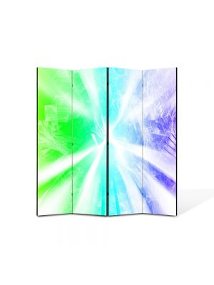 Paravan de Camera ArtDeco din 4 Panouri Abstract Decorativ Raze de lumina 140 x 150 cm