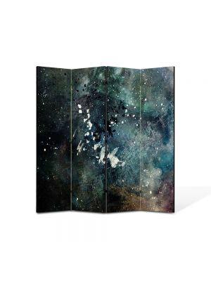 Paravan de Camera ArtDeco din 4 Panouri Abstract Decorativ Artistic 140 x 150 cm