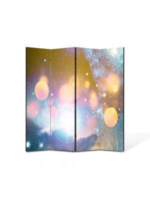 Paravan de Camera ArtDeco din 4 Panouri Abstract Decorativ Energii portocalii 140 x 150 cm