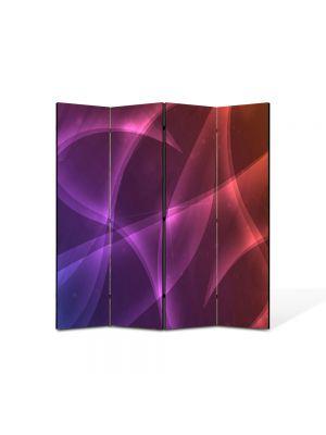 Paravan de Camera ArtDeco din 4 Panouri Abstract Decorativ Lumini calde 140 x 150 cm