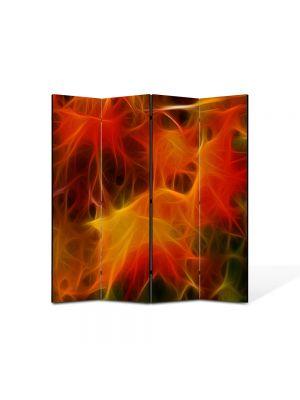 Paravan de Camera ArtDeco din 4 Panouri Abstract Decorativ Panza 140 x 150 cm