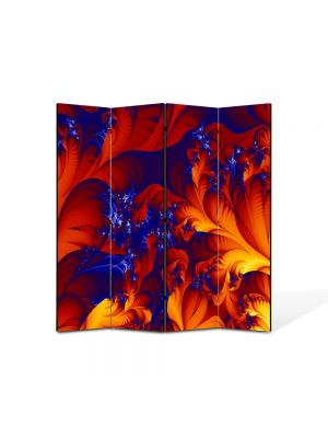 Paravan de Camera ArtDeco din 4 Panouri Abstract Decorativ Frunze exotice 140 x 150 cm