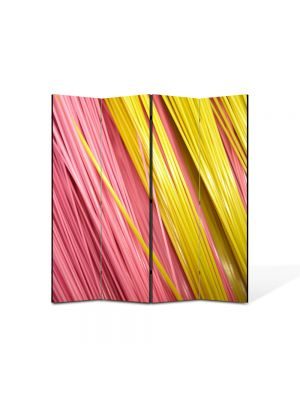 Paravan de Camera ArtDeco din 4 Panouri Abstract Decorativ Paste 140 x 150 cm