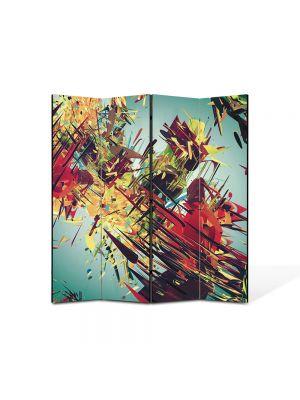 Paravan de Camera ArtDeco din 4 Panouri Abstract Decorativ Vintage abstract 140 x 150 cm