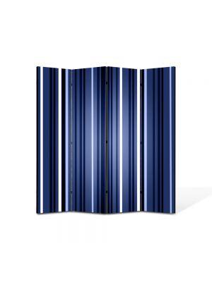 Paravan de Camera ArtDeco din 4 Panouri Abstract Decorativ Dungi verticale 140 x 150 cm