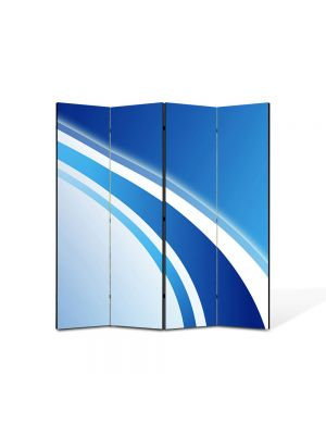 Paravan de Camera ArtDeco din 4 Panouri Abstract Decorativ Logo 140 x 150 cm