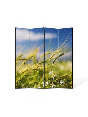 Paravan de Camera ArtDeco din 4 Panouri Peisaj Spice in vant 105 x 150 cm
