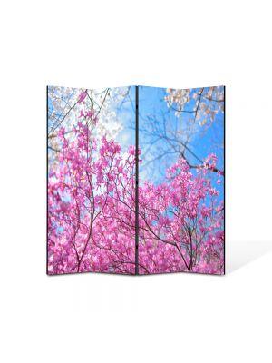 Paravan de Camera ArtDeco din 4 Panouri Peisaj De la roz la albastru 105 x 150 cm