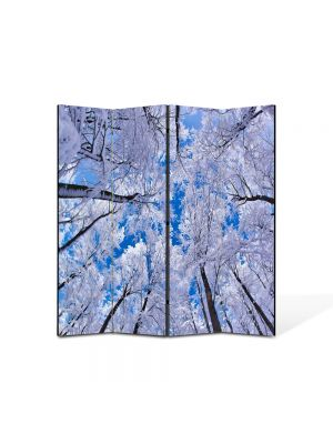 Paravan de Camera ArtDeco din 4 Panouri Peisaj In sus iarna 105 x 150 cm