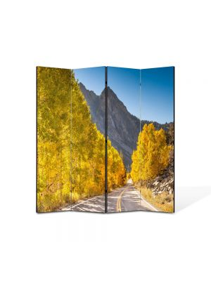 Paravan de Camera ArtDeco din 4 Panouri Peisaj Drum superb 105 x 150 cm