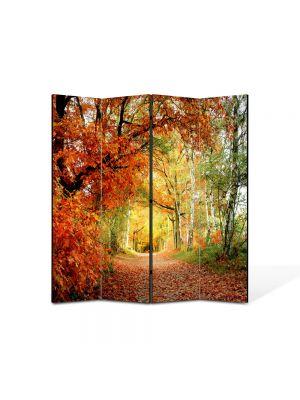 Paravan de Camera ArtDeco din 4 Panouri Peisaj Tunel natural 105 x 150 cm